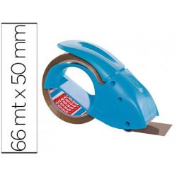 Portarrollo tesa embalaje para rollos de 66 mt x 50 mm azul incluye 1 rollo