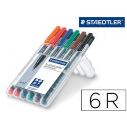 Rotulador staedtler lumocolor retroproyeccion punta de fibra permanente 318
