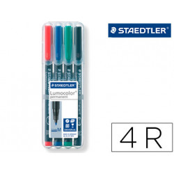 Rotulador staedtler lumocolor retroproyeccion punta de fibra permanente 317
