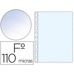 Funda multitaladro qconnect folio pvc 110 micras cristal caja 100 unidades