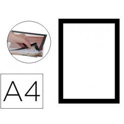 Marco porta anuncios qconnect magneto din a4 dorso adhesivo removible colo