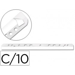 Tira multitaladro autoadhesiva qconnect para documentos a4 y a5 pack de