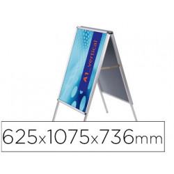 Caballete para poster jensen display aluminio doble cara din a1 marco de 25
