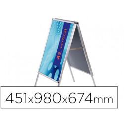 Caballete para poster jensen display aluminio doble cara din a2 marco de 25