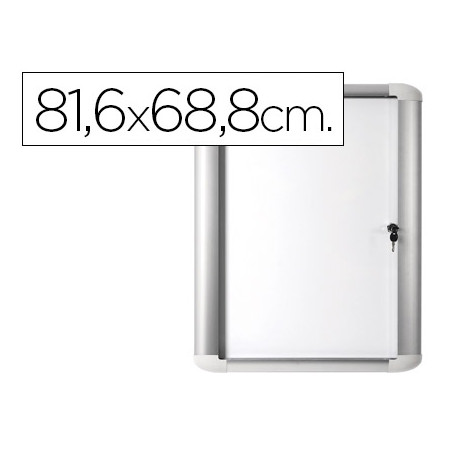 Vitrina de anuncio bioffice magnetica 816x688 mm para exterior con marco d