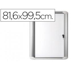 Vitrina de anuncio bioffice magnetica 816x995 mm para exterior con marco d