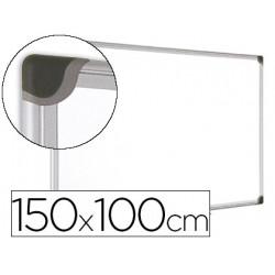Pizarra blanca bioffice magnetica maya w ceramica vitrificada marco de alu