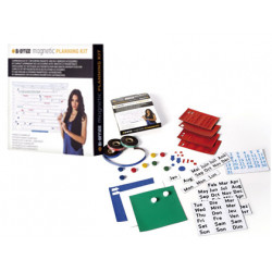 Kit planificacion bioffice con accesorios magneticos y adhesivos reutiliza