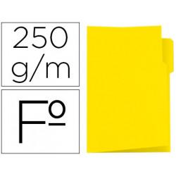Subcarpeta cartulina gio folio pestaña izquierda 250 g/m2 amarillo
