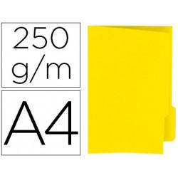 Subcarpeta cartulina gio din a4 pestaña derecha 250 g/m2 amarillo