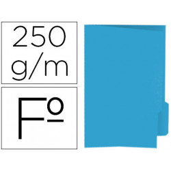 Subcarpeta cartulina gio folio pestaña derecha 250 g/m2 azul