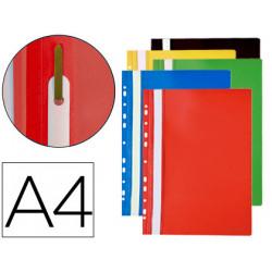 Carpeta dossier multitaladros con fastener pvc qconnect din a4 colores sur