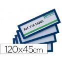 Marco identificacion tarifold adhesivo 120x45 mm azul pack de 4 unidades