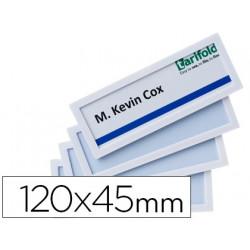 Marco identificacion tarifold adhesivo 120x45 mm blanco pack de 4 unidades