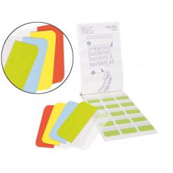 Banderitas separadoras 3l office rigidas con pestaña medianas 4 colores 12