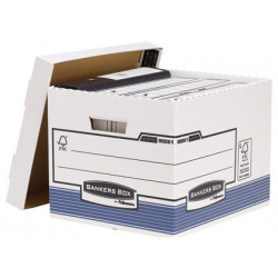 Cajon fellowes carton reciclado para almacenamiento de archivo capacidad 4
