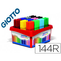 Rotulador giotto turbo color school pack de 144 unidades 12 colores x 12 un