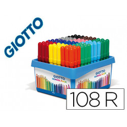 Rotulador giotto turbo maxi school pack de 108 unidades 12 colores x 9 unid