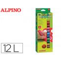 Tempera en barra alpino pintacolor caja de 12 colores surtidos