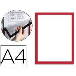 Marco porta anuncios durable magnetico din a4 dorso adhesivo removible para