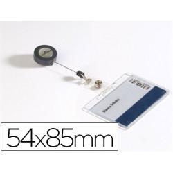 Identificador con cordon extensible durable uso vertical/horizontal 54x85 m