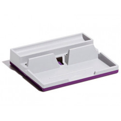 Organizador sobremesa durable varicolor smart office plastico gris/morado 5
