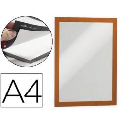 Marco porta anuncios durable magnetico din a4 dorso adhesivo removible colo