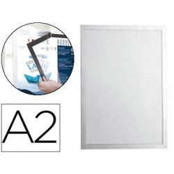 Marco porta anuncios durable magnetico din a2 dorso adhesivo removible colo