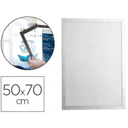 Marco porta anuncios durable magnetico 50x70 cm dorso adhesivo removible co