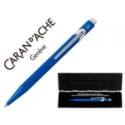 Boligrafo caran dache 849 con estuche azul punta media