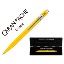Boligrafo caran dache 849 con estuche amarillo punta media