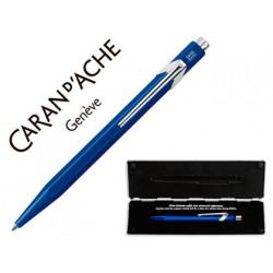 Boligrafo caran dache 849 con estuche zafiro azul punta media