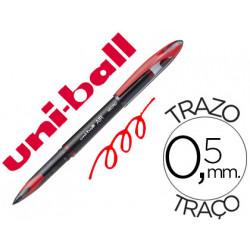 Boligrafo uniball roller air uba188m 05 mm tinta liquida rojo