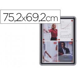 Vitrina de anuncios nobo mural magnetica de exterior din a4 con puerta y ma