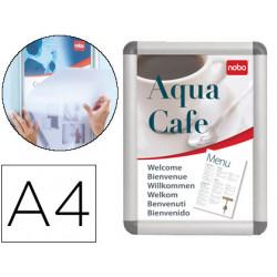 Marco porta anuncios nobo clipdown din a4 marco de aluminio con cantoneras