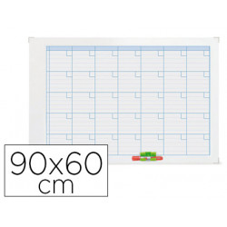 Planning magneticnobo mensual rotulable marco metalico 90x60 cm