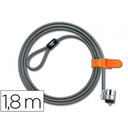 Cable de seguridad para portatil kensington microsaver longitud 18 mt
