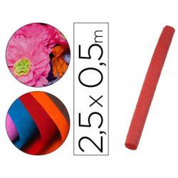 Papel crespon liderpapel rollo de 50 cm x 25 m 85g/m2 rojo