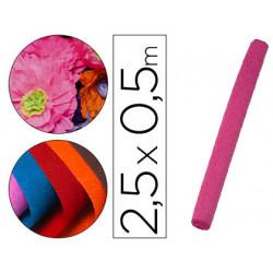 Papel crespon liderpapel rollo de 50 cm x 25 m 85g/m2 rosa