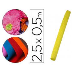 Papel crespon liderpapel rollo de 50 cm x 25 m 85g/m2 amarillo