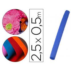Papel crespon liderpapel rollo de 50 cm x 25 m 85g/m2 azul