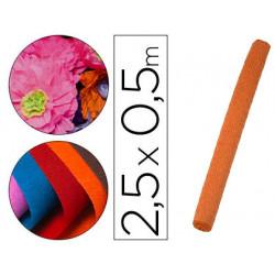Papel crespon liderpapel rollo de 50 cm x 25 m 85g/m2 naranja