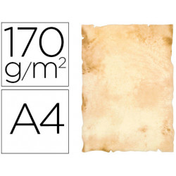 Papel pergamino liderpapel din a4 papiros con bordes 170 g/m2 paquete de 8
