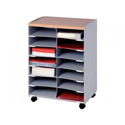 Modulo fastpaperflow con 14 casillas y ruedas pivotantes color gris 720x51