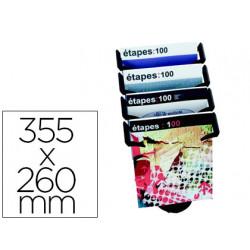 Expositor sobremesa paperflow 4 compartimentos tamaño din a4+ color negro