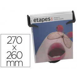 Expositor sobremesa paperflow 1 compartimento tamaño din a4+ color negro 2