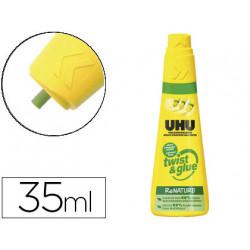 Pegamento uhu universal twist&glue 35 ml sin disolvente unidad