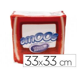 Servilleta celulosa amoos 33x33 cm 1 capas paquete de 100 unidades
