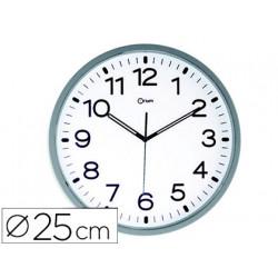 Reloj cep de pared magnetico oficina redondo 25 cm de diametro color blanco