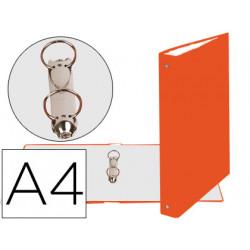 Carpeta de 2 anillas 30mm redondas exacompta din a4 carton forrado naranja